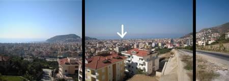 [Bild: Misslyckad Panoramavy över Alanya, Turkiet]