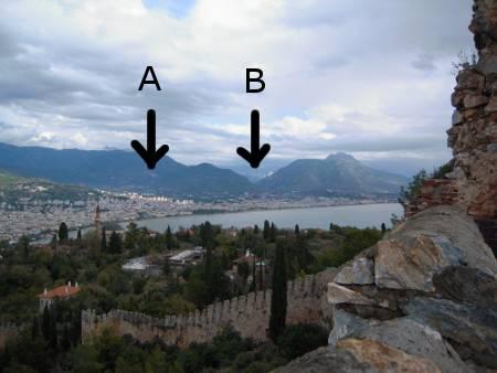 [Bild: Utsikt från Borgen, Alanya, Turkiet]