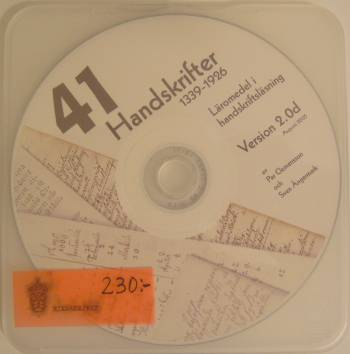 [Bild: CD:n 41 Handskrifter 1339-1926 Version 2.0d]