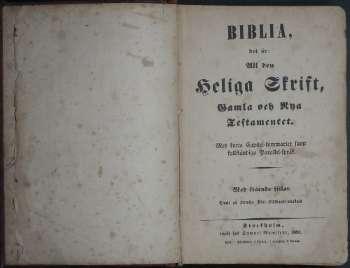 [Bild: Anders Johan Svanström Familjebibel, sidan 3, 2:a uppslaget]