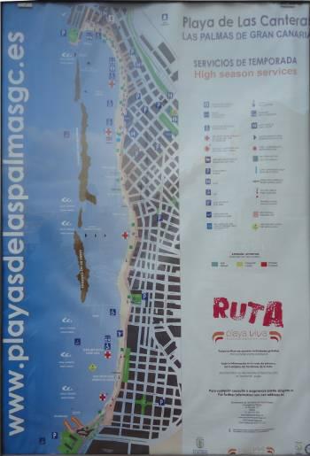 [Bild: Karta över De Las Canteras i Las Palmas]