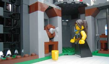 [Bild: LEGO-kalender (7952) Kingdoms nr17 placeras i borgen (7946)]