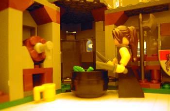 [Bild: LEGO-kalender (7952) Kingdoms nr18 placeras i borgen (7946)]
