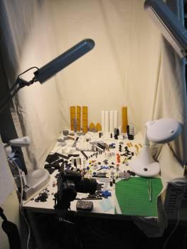 [Bild: LEGO@ Skytteln (10213) och animeringsplatsen]