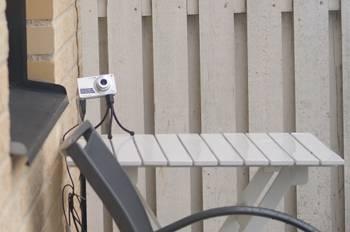 [Bild: Sony w350 riggad för att bevaka östra holken]