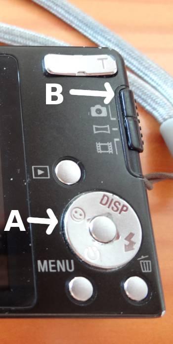 [Bild: Gamla digitala pockekameran W350 - baksidan]