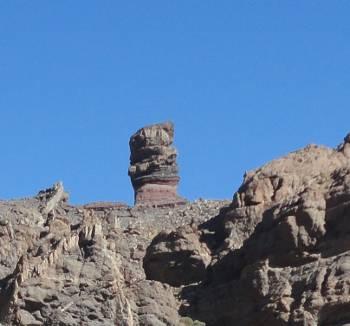 [Bild: Den mest kända lavaformationen - västerifrån, Teide, Teneriffa]