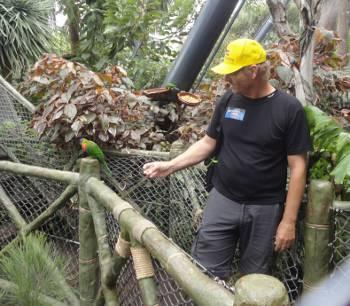 [Bild: Jag och en parakit, Katandra Treetops, Loro Park, Pt Cruz, Teneriffa]