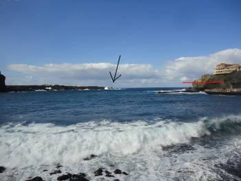 [Bild: Vågorna vid San Marcos, Teneriffa]