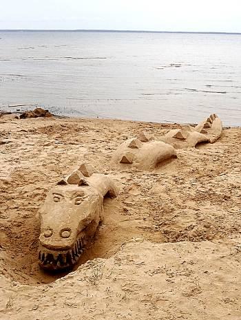 [Bild: Sandkonst, Gaddesanna, Vänersnäs]