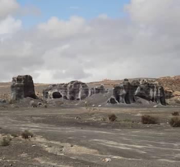 [Bild: Bergsformationer nära väg LZ-404, Lanzarote]