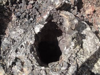 [Bild: Minivulkan, hålet uppifrån, Lanzarote]