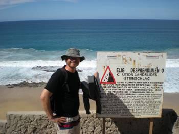 [Bild: Nisse uppe vid Playa de la Escalera, Fuerteventura]
