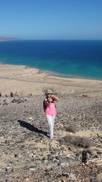 [Bild: Svägerskan fotograferar Nisse. Fuerteventura]