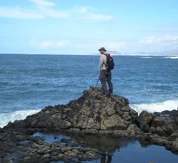 [Bild: Nisse och havet, Fuerteventura]