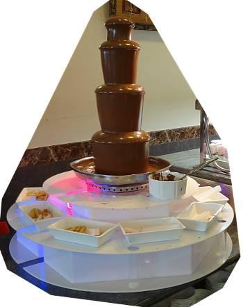 [Bild: Chokladfonten på Wok-buffén vid hamnen. Las Palmas. Gran Canaria.]