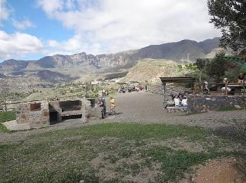 [Bild: Grillplatsen vid Santa Lucia. Gran Canaria.]
