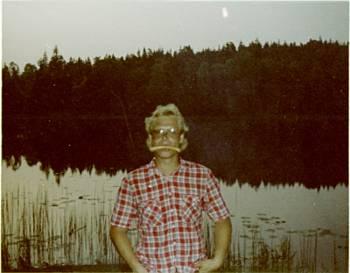 [Bild: Nisse vid Eldmörjan maj 1982]