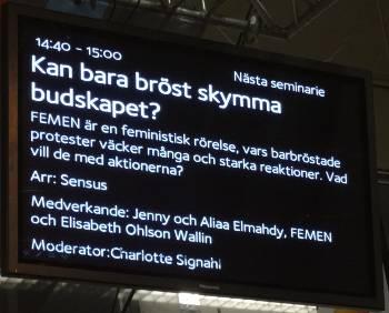 [Bild: Programtablå. Internationella scenen, sensus, Lördag kl 14:40]