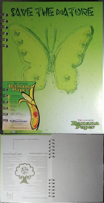 [Bild: Ballograf anteckningshäfte av banan]