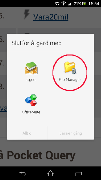 [Bild: Väljer appen File Manager]