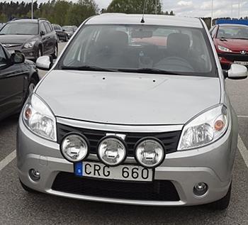 [Bild: Nya extraljus på bilen]