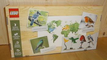 [Bild: LEGO 21301 Fåglar (baksidan av lådan)]
