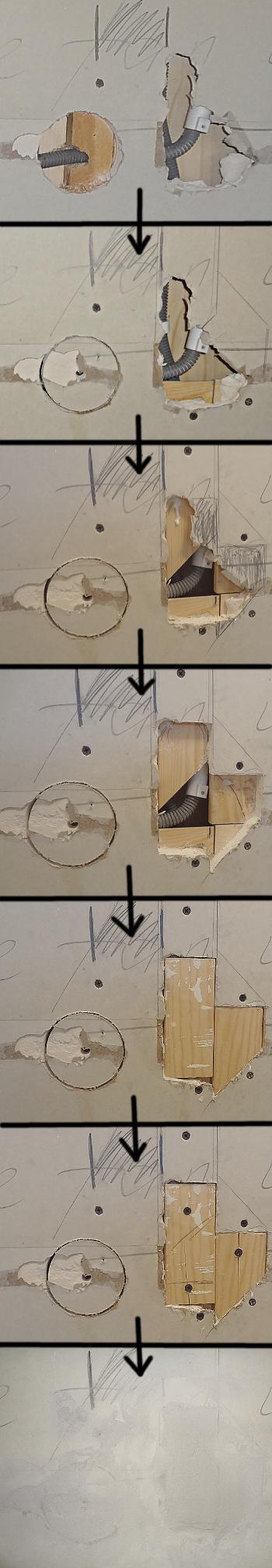 [Bild: EL till IKEA bänkbelysning del 2, en serie som visar hur jag gjorde för att fixa det trasigaste hålet.]