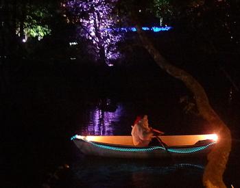 [Bild: Grästorp Ljusfestival vid Nossan Tomten]