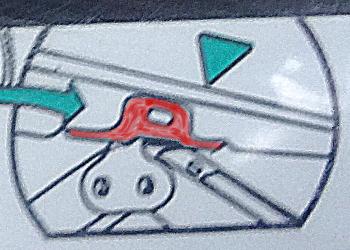 [Bild: Bilen, Reservhjulsdomkraft]