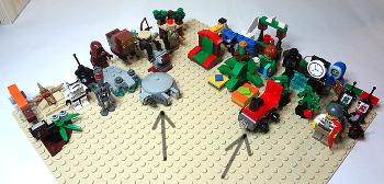 [Bild: LEGO 60099+75097+3811]