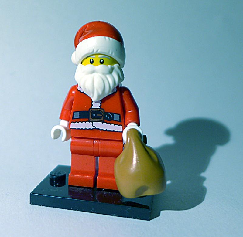 [Bild: LEGO minifugur col122 med Brun Säck]