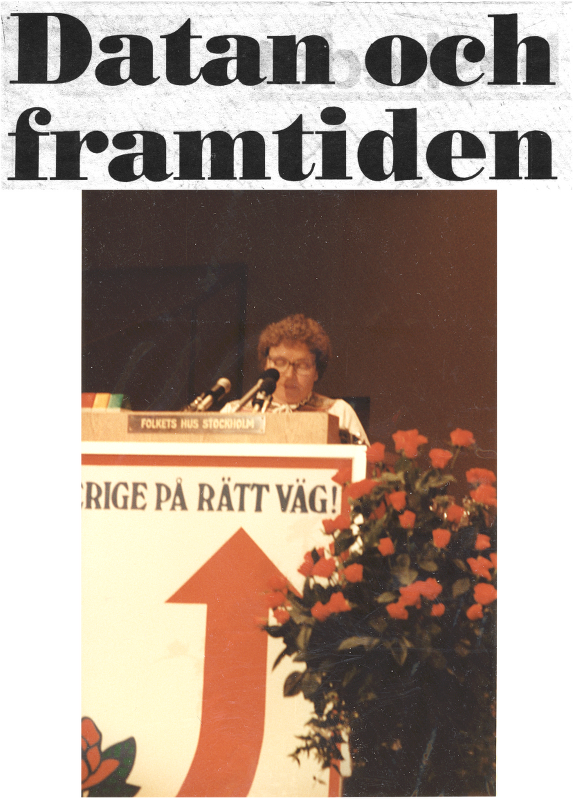 [Bild: Mor Vivan; 1984. Socialdemokraternas 29e kongress]