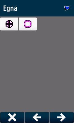 [Bild: GPS Skärmdump från de symboler som är sk anpassade (Custom Symbols)]