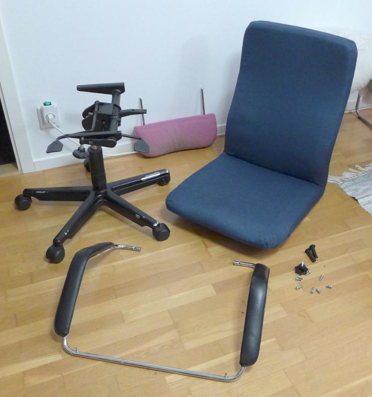[Bild: Min kontotsstol, från ca 1990 - får ny klädsel - snart klar :) ]
