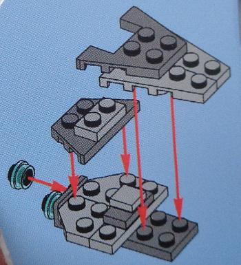[Bild: LEGO 75245 Lucka 1 byggbeskrivning]