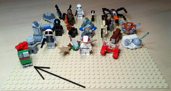 [Bild: LEGO 75245 Lucka 23 på plattan]