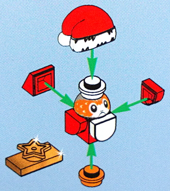 [Bild: LEGO       75245 Lucka 24 byggbeskrivningen]