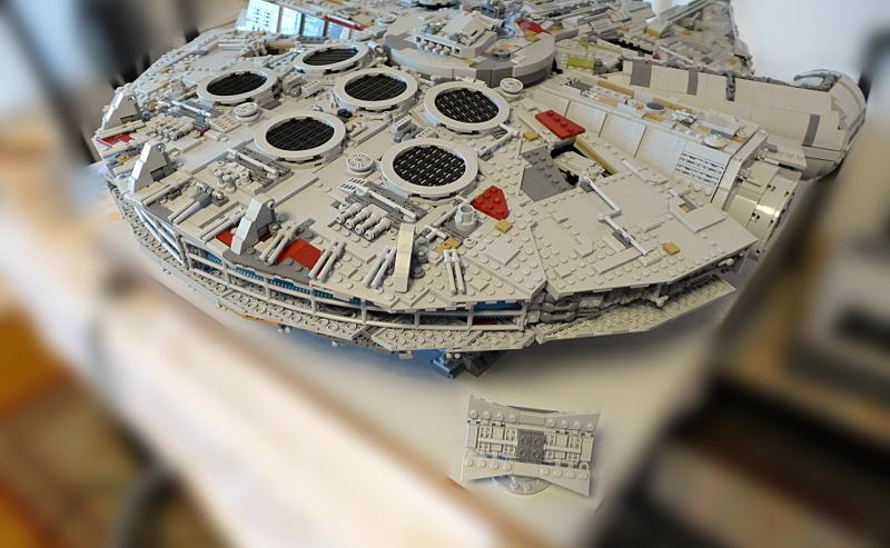 [Bild: LEGO 75192 Antennen ska in i lastutrymmet]