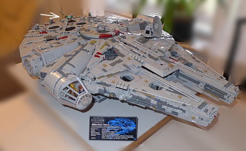 [Bild: LEGO 75192 Klart. T.o.m. flydjuret fick en plats]