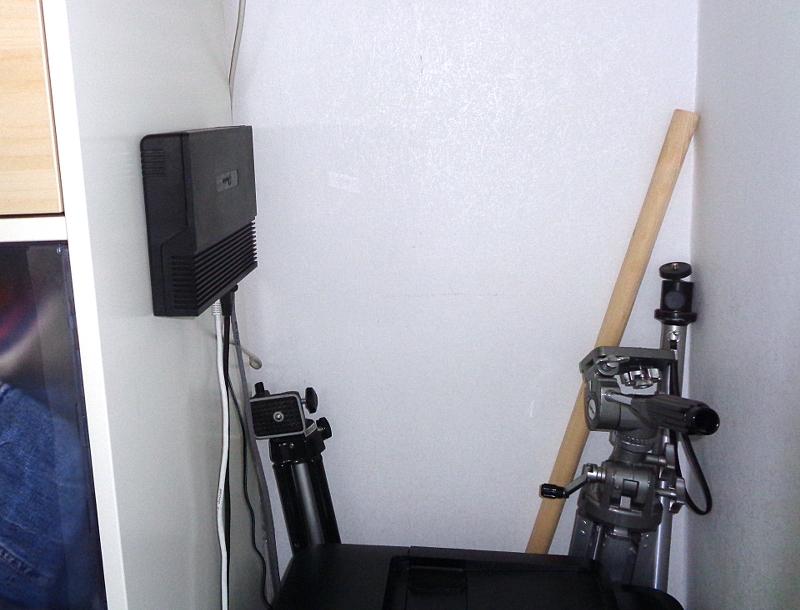 [Bild: Nya         switchen inkopplad och igång]