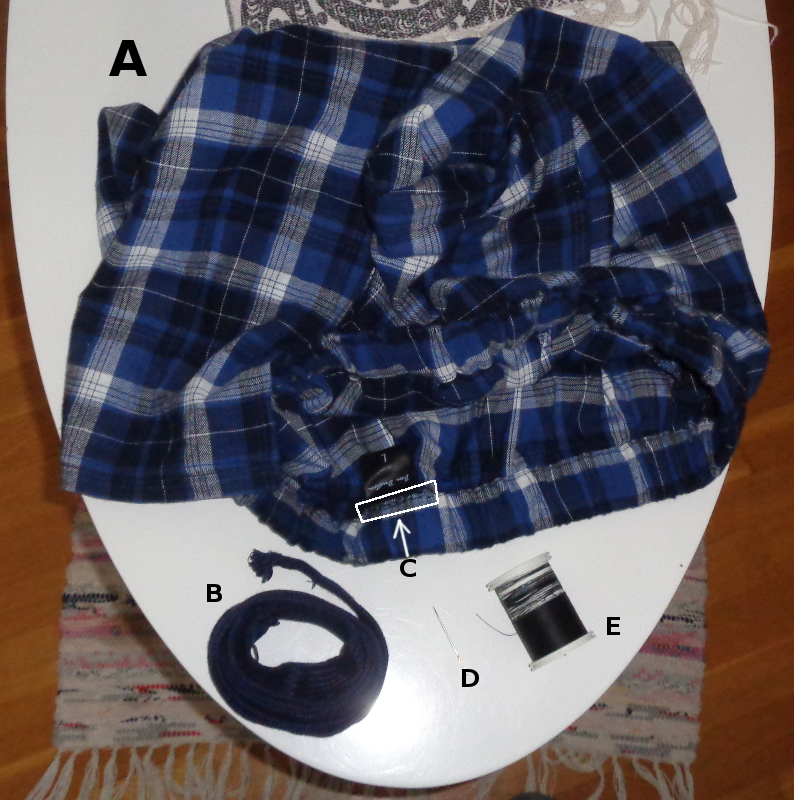 [Bild: Fixat till bekvämare pyjamas- /mysbyxor.]